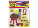 3-D Barbecue theme stickers