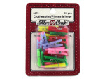 Miniature crafting clothespins