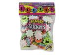 Flower shape alphabet stickers