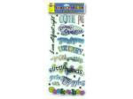 Baby phrase metallic stickers