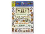 Money Theme Scrapbooking Stickers