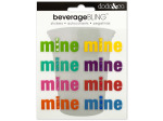 'Mine' Beverage Bling Stickers