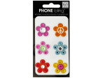 Peace Flowers Phone Bling Removable Stickers