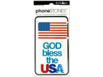 God Bless the USA Phone Stones Stickers