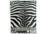 Zebra Print Glitter Paper