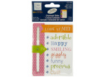 Baby Girl Chipboard Slider with Glitter Accents