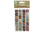 Multi-Color Self-Adhesive Framed Alphabet