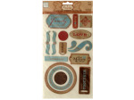 Family Self-Adhesive Chipboard Embellishments