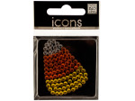 Bling Rhinestone Candy Corn Icons Sticker