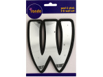 Letter W Peel & Stick Mirror Wall Decor