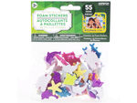 55 Pack Glitter Sea Life Foam Sticker