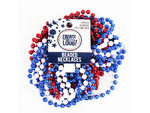 8 Pack Red White & Blue Beaded Party Necklaces
