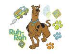 Scooby Doo Prints Self-Stick Wall Decor Stickers Set
