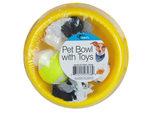 Dog Bowl w/Toy