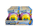 Emoticon Sticky Throw Toy in Countertop Display