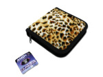 Animal print CD and DVD holder