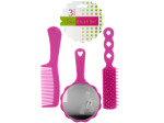 Hairbrush & Comb Set with Mirror