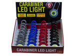 Plastic Carabiner LED Light Countertop Display