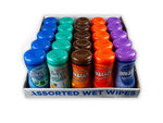 Qwik & Easy Asst 40 Piece Wet Wipes in Countertop Display