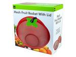 mesh fruit basket with lid