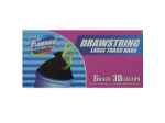 Drawstring trash bags, package of 6 30 gallon bags