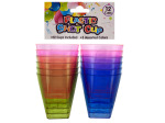12pc plastic shot glasses