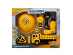 Construction Site Play Set with Friction Truck