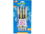 Retractable Ballpoint Pens with Soft Sparkle Grips