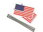 U.S. flag luggage tags