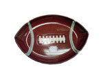 Football shaped serving tray