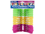 24pc plastic clothespins