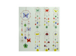 Butterflies & Flowers Glass Wind Chime