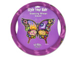 Colorful butterfly steering wheel cover