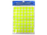 Round neon adhesive labels