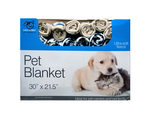 Fleece Paw Print Pet Blanket Countertop Display