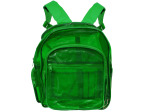Transparent Green Plastic Backpack With Storage Pockets