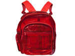 Transparent Red Plastic Backpack With Storage Pockets