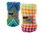 Colorful Print Plush Throw Blanket