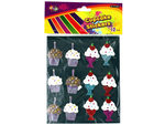 Dimensional Cupcake Stickers with Glitter