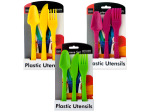 Bright Colors Plastic Utensils Set
