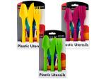 Bright Colors Plastic Utensils Set