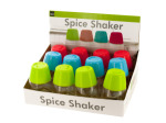 Colorful Spice Shaker Countertop Display