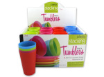 12 oz. Plastic Stacking Tumblers Countertop Display