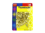 100 Pack brass colored thumbtacks