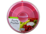 Plastic Divided Snack Tray with Cover