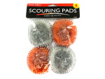 Donut shaped scouring pads