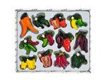 Decorative Pepper Magnets Set