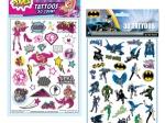 Licensed Temporary Tattoos Sheet