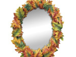 Oak Leaves Oval Wall Mirror