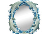Dolphins Oval Wall Mirror